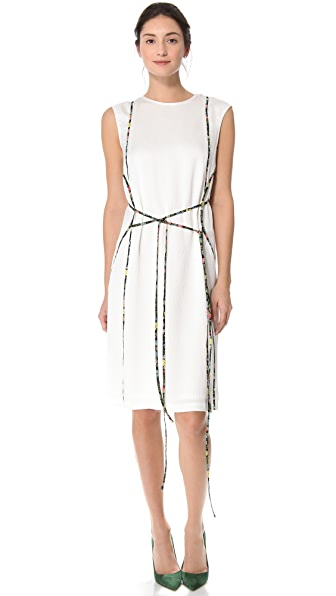 Tess Giberson Silk Dress with Piping