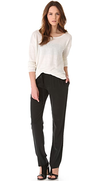 Tess Giberson Pleated Silk Pants