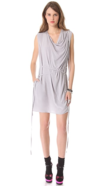 Tess Giberson Dress with Front Drape