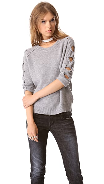 Tess Giberson Open Cable Sleeve Sweater
