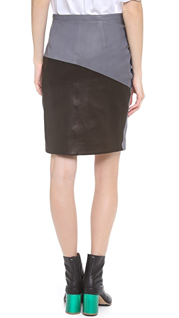 Tess Giberson Split Leather Skirt