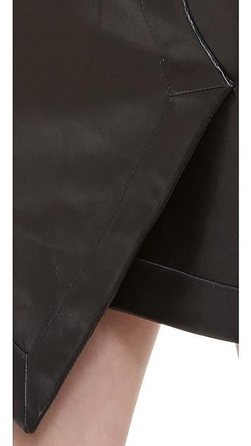 Tess Giberson Leather Wrap Skirt