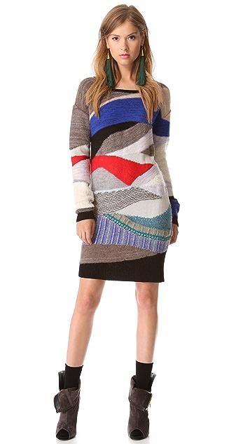 Tess Giberson Intarsia Collage Sweater Dress