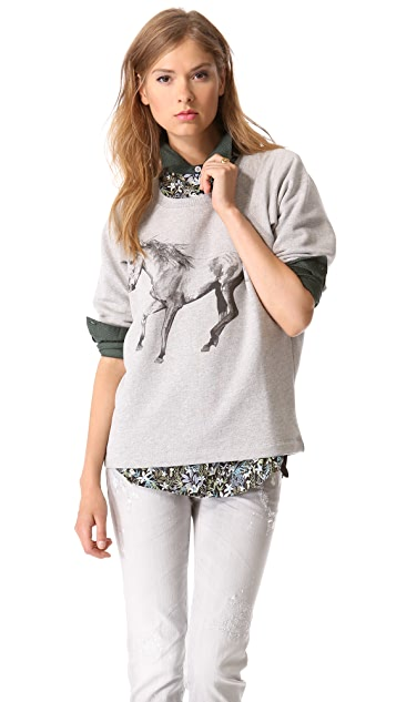 Tess Giberson Animal Print Sweatshirt