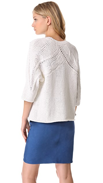 Tess Giberson Disintegrating Cable Sweater
