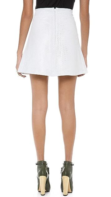 Tess Giberson Perforated Leather Skirt