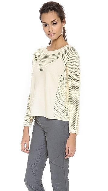 Tess Giberson Mesh Intarsia Sweater
