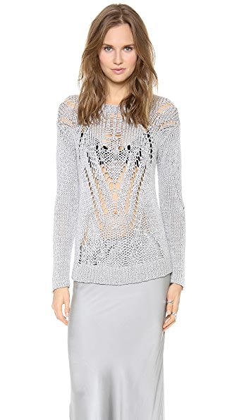 Tess Giberson Moving Open Stitch Sweater