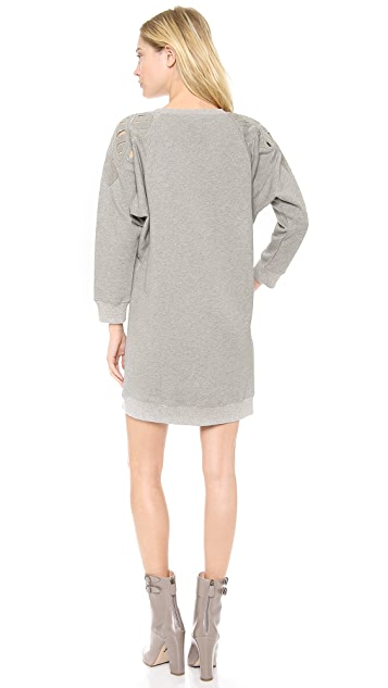 Tess Giberson Embroidered Sweatshirt Dress