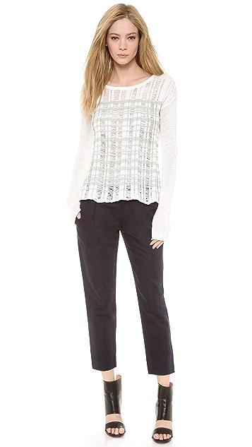 Tess Giberson Drop Stitch Striped Sweater