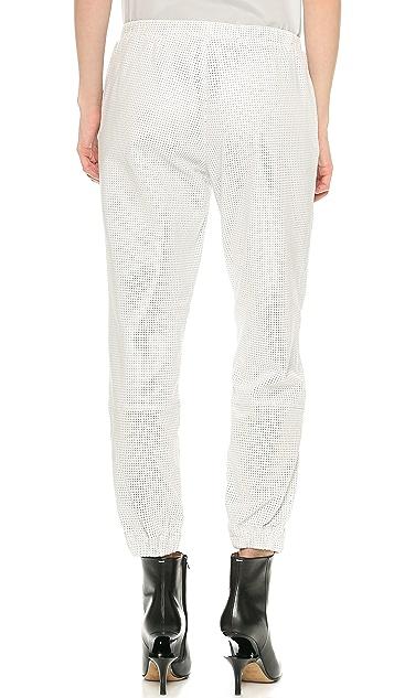 Tess Giberson Leather Track Pants