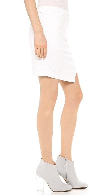 Tess Giberson Remixed Denim Skirt