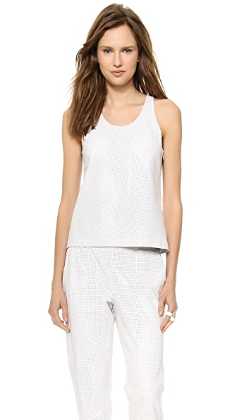 Tess Giberson Perforated Leather Tank