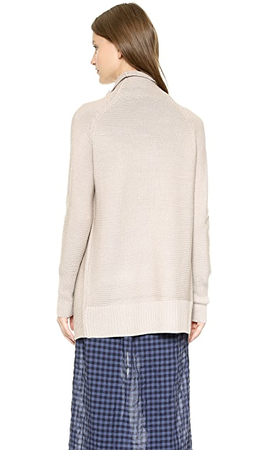 Tess Giberson Garter Stitch Knit Coat