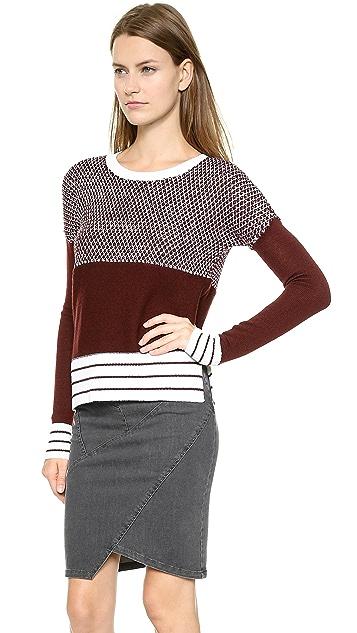 Tess Giberson Striped Birdseye Sweater