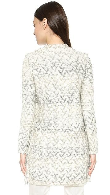 Tess Giberson Knit Fringe Coat