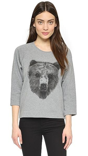 Tess Giberson Bear Print Sweatshirt - Grey
