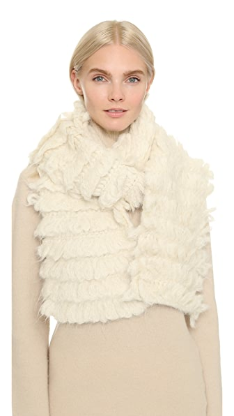 Tess Giberson Crochet Fringe Scarf