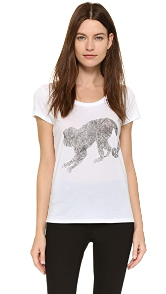 Tess Giberson Monkey Tee - White/Black
