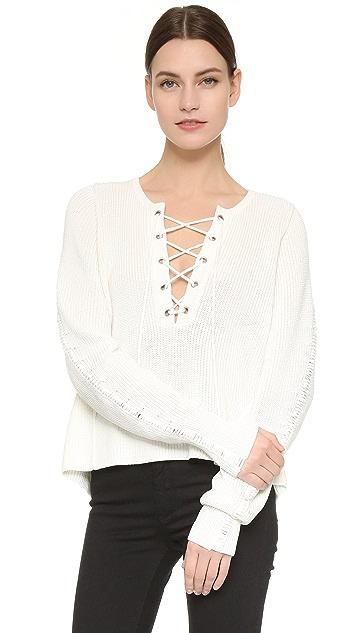 Tess Giberson Lace Up Sweater