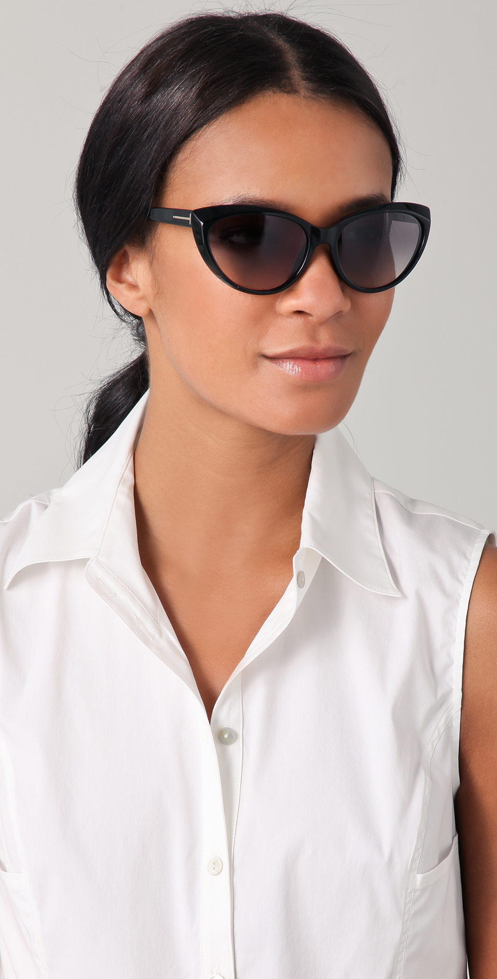 d39d01bdfa495 Tom Ford Eyewear Martina Cat Eye Sunglasses