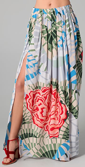 Thakoon Addition Maxi Skirt with Slits