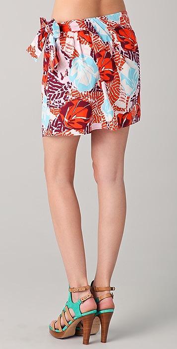 Thakoon Addition Print Sarong Miniskirt