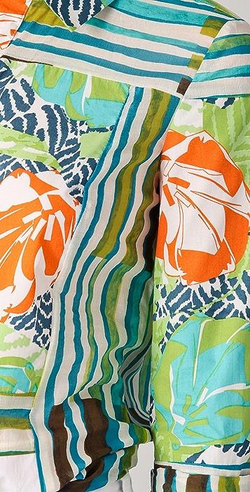 Thakoon Addition Hawaiian Surf Print Blouse