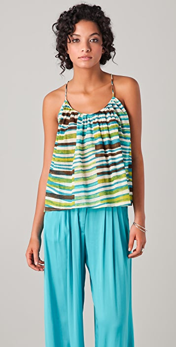 Thakoon Addition Striped Swing Tank