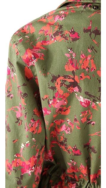Thakoon Addition Flower Camo Utility Pocket Coat