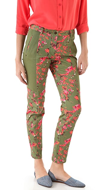Thakoon Addition Flower Camo Seamed Trousers
