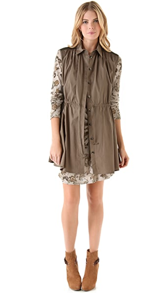 Thakoon Addition Drawstring Shirtdress