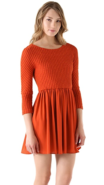 Thakoon Addition Combo Sweater Dress
