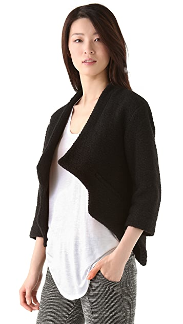 Thakoon Addition Textured Knit Cropped Jacket