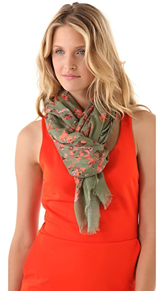 Thakoon Addition Floral Camo Printed Scarf