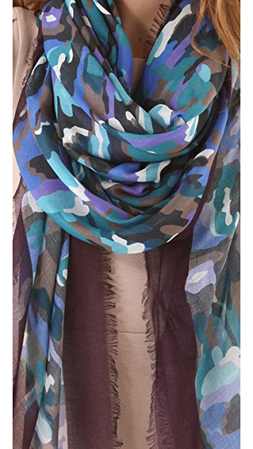 Thakoon Addition Camo Printed Scarf