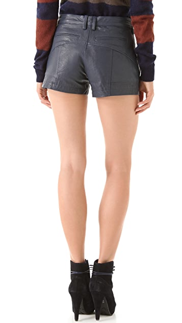 Thakoon Addition Quilted Leather Shorts