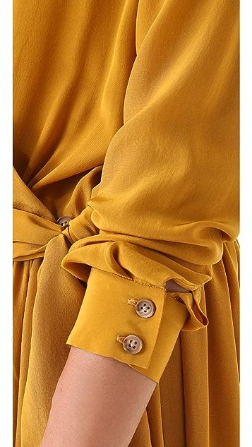 Thakoon Addition Long Sleeve Wrap Dress