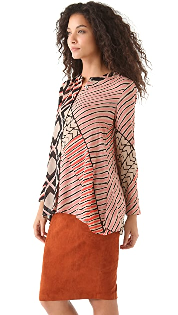 Thakoon Addition Cape Back Blouse