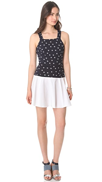 Thakoon Addition Dot Sweatshirt Tank Dress