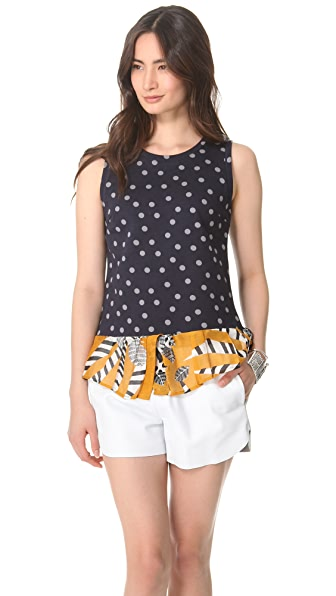 Thakoon Addition Polka Dot Top