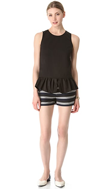 Thakoon Addition Poplin Peplum Top