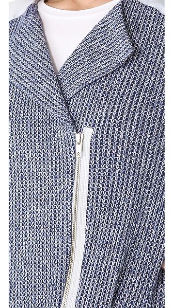 Thakoon Addition Denim Eyelet Contrast Jacket