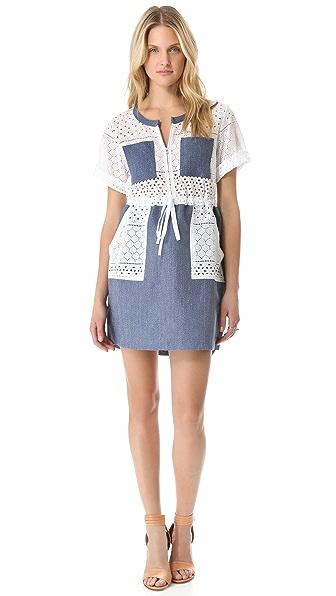 Thakoon Addition Linen Combo Cargo Dress