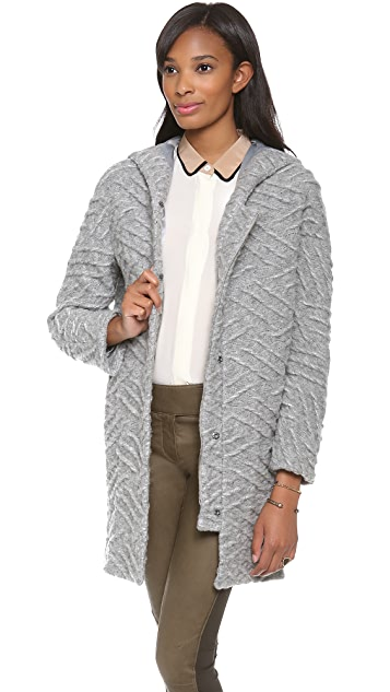 Thakoon Addition Hooded Coat