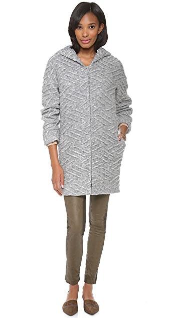 Thakoon Addition Hooded Coat