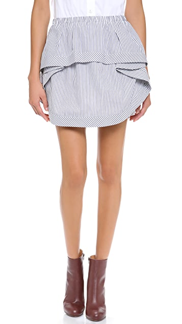 Thakoon Addition Ruffle Front Skirt