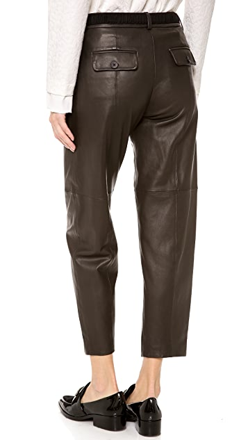 Thakoon Addition Full Leather Pants