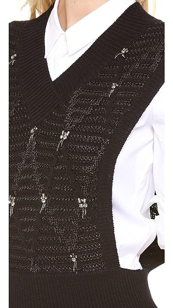 Thakoon Addition Beaded Knit Vest