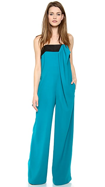 Thakoon Addition Strapless Bow Front Jumpsuit